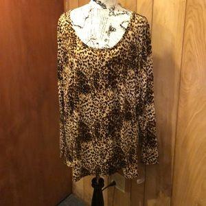 NWT HTF Lularoe Lynnae 3XL Leopard Print